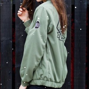 NWT Insert Coin Green Military Jacket